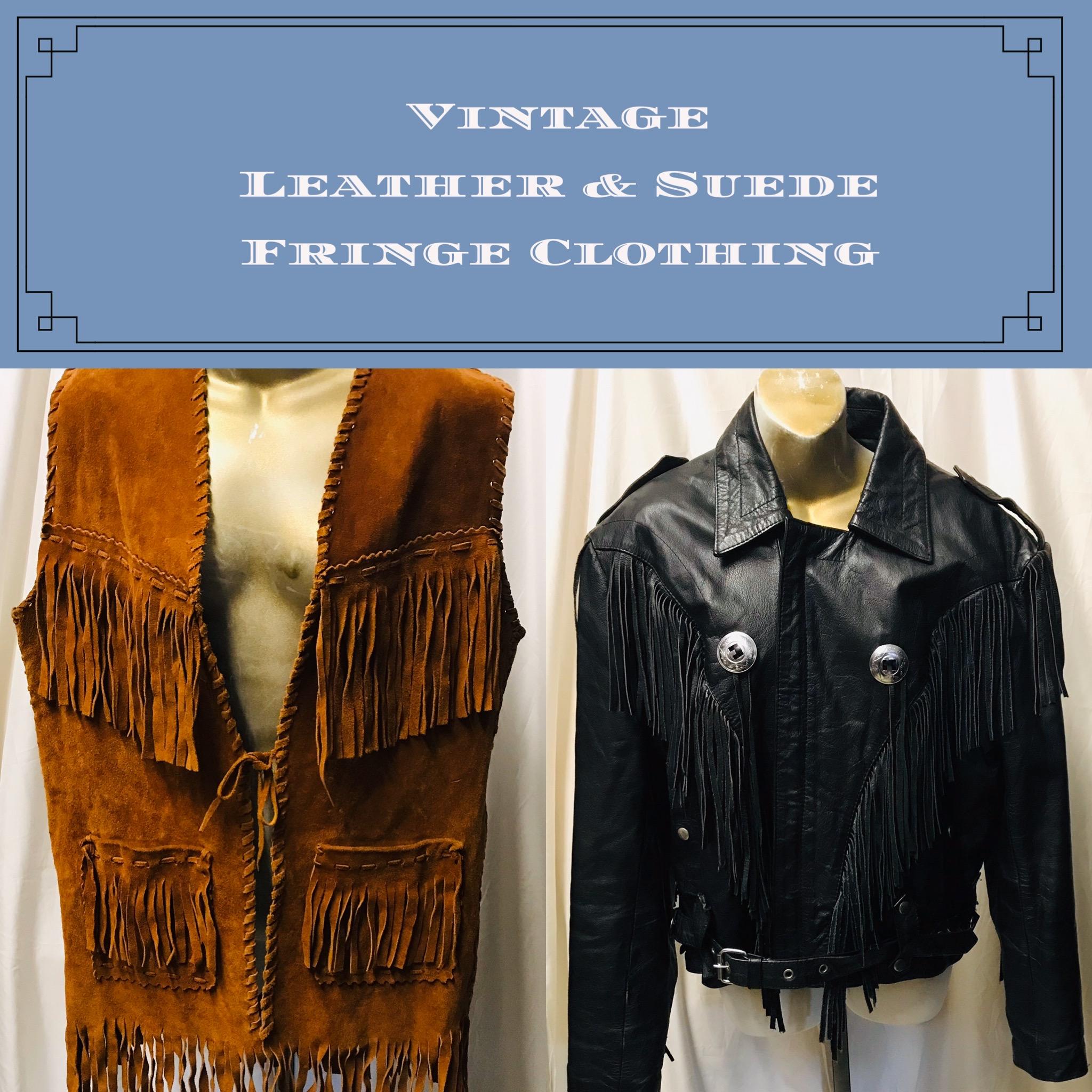 Vintage Leather & Suede Finge