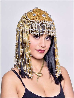 Gold and Silver Beaded Cleopatra Headpiece