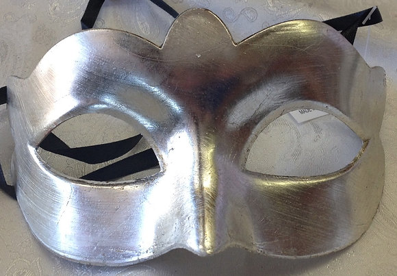 Women's Simple Silver Masquerade Mask