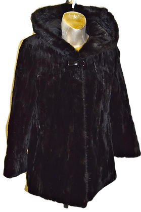 Vintage Leega Sheared Black Mink Fur Jacket