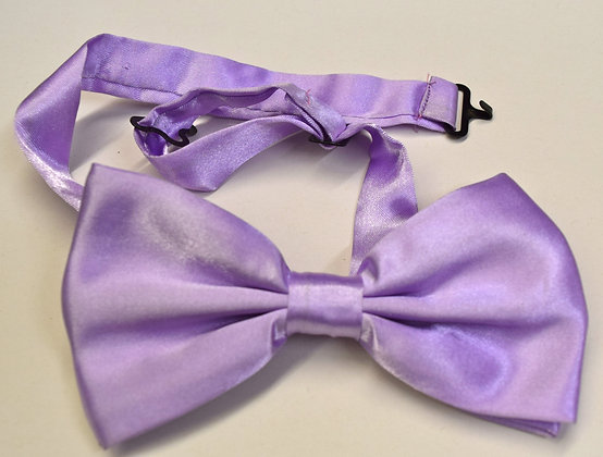 Vintage Hand Made Clip Bow Tie Light Blue Black