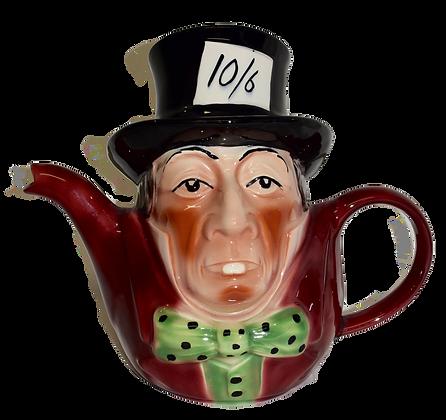 Mad Hatter Tony Wood Staffordshire England Teapot