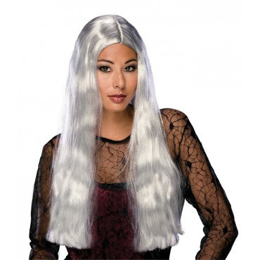 """24"""" Long Witch Theatrical Wig Grey"""