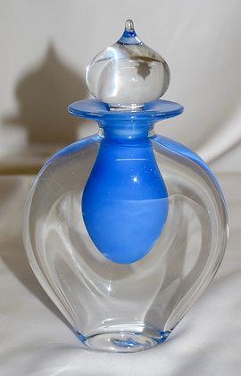 Mish Vins Glass Design Hand Blown Perfume Bottle Blue