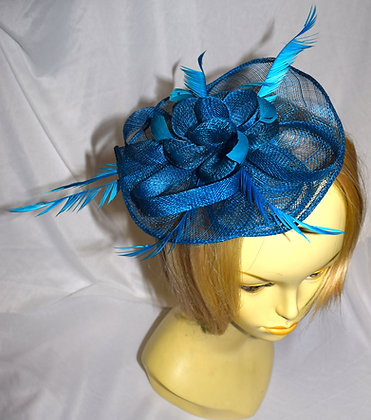 Aqua Blue Fancy Fascinator