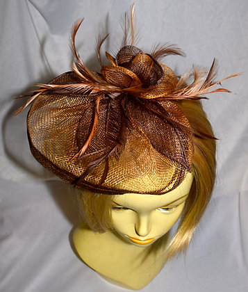 Two Shades of Brown Fancy Fascinator