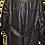 Vintage Leather Black Coat