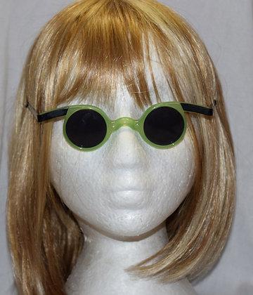 Mad Scientist Green Costume Glasses