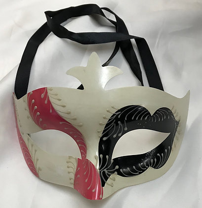 Men's Simple Masquerade Mask Black & Pink