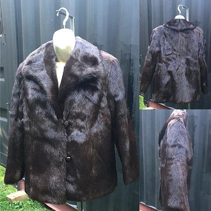 Vintage UAI Beaver Fur Jacket Size Medium