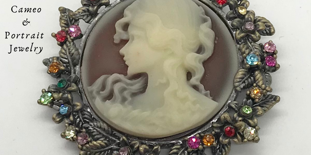 Cameo & Portrait Costume Brooch Pins