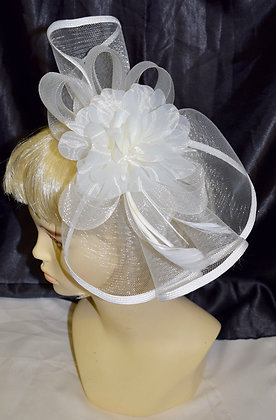 Floral with Flare Style Fancy Fascinator Ivory