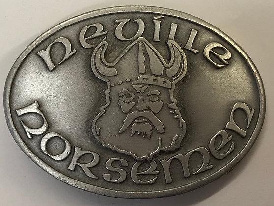 Vintage Pewter Neville Norsemen Belt Buckle