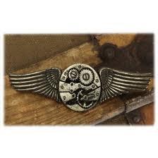 Steampunk Metal Wing Brooch Pin