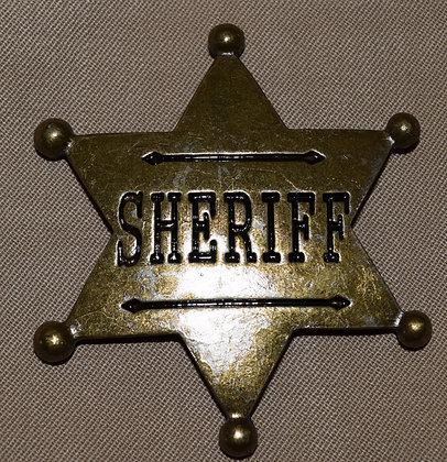 Steampunk Metal Sheriff Badge