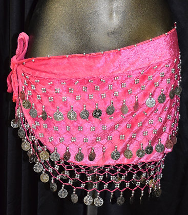 Belly Dancing Coin Wrap Hot Pink
