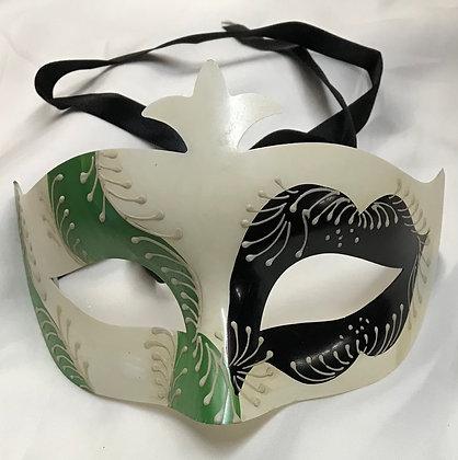 Men's Simple Masquerade Mask Black & Green