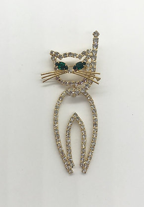 Movable Cat Brooch Pin