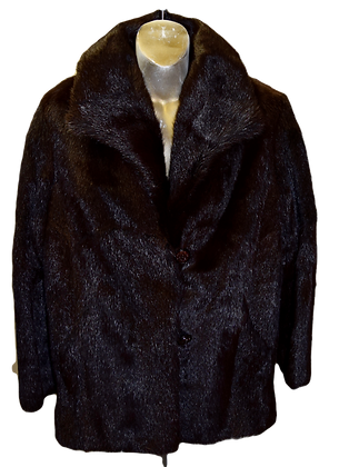 Vintage UAI Beaver Fur Jacket Size Medium