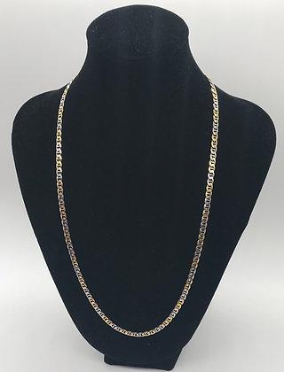 Vintage 10K Gold Flat Mariner / Anchor Style Necklace