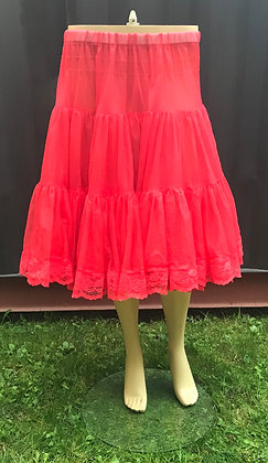 Deluxe Red Soft Petticoat Crinoline with Lace