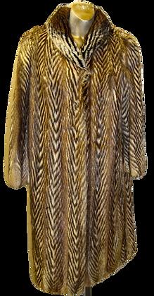 Vintage Brown & Beige Mink Fur Coat
