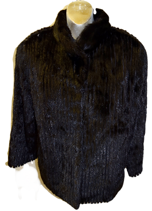 Vintage Williams Fur Group Black Saga Mink Fur Jacket