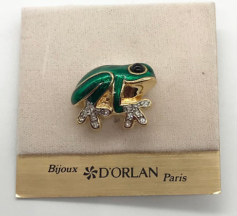 Frog Brooch Pin Designed By D'Orlan