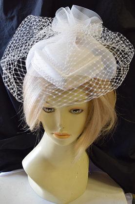 Vintage White Fancy Summer Hat