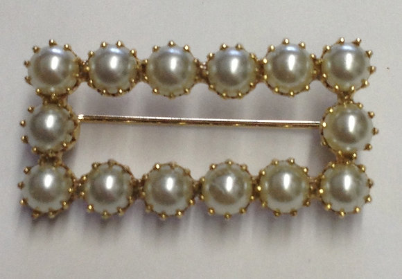 Costume Pearl Vintage Brooch Pin