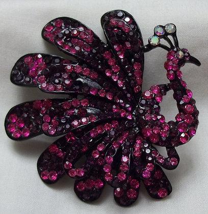 Costume Fashion Peacock Ring Fuchsia