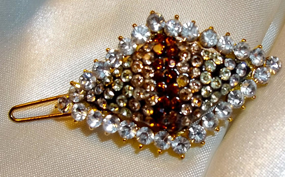 Diamond Shape Hair Clip Bronze