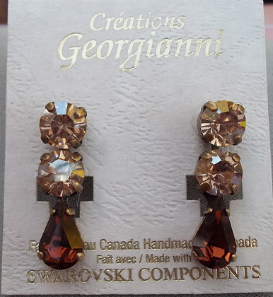 Creations Georgianni Teardrop Swarovski Earrings