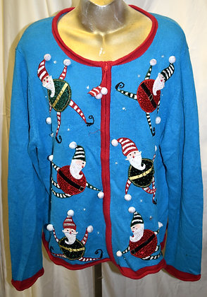 Vintage Santa/Elf Christmas Sweater XL