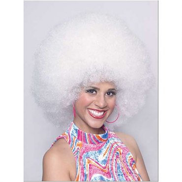 Jumbo Afro Wig White