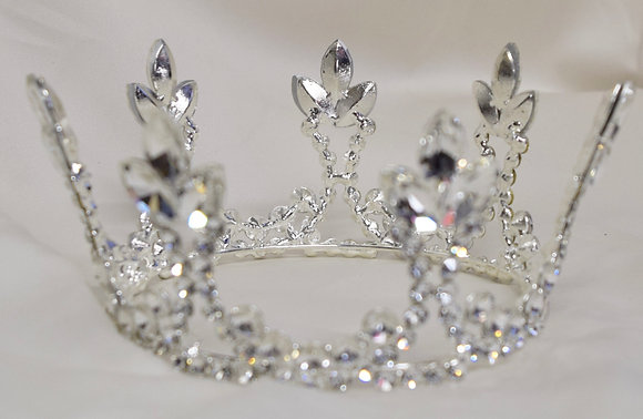 Regal Queen Fancy with Floral Design Crown