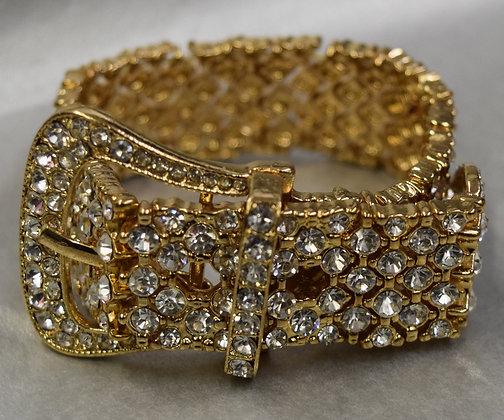 Belt Style Rhinestone Costume Bracelet