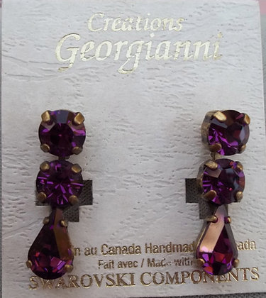 Creations Georgianni Teardrop Swarovski Earrings