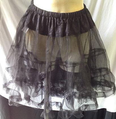 Basic Black Petticoat Slip Two Full Layers