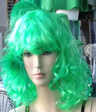 Green Theatrical Wig