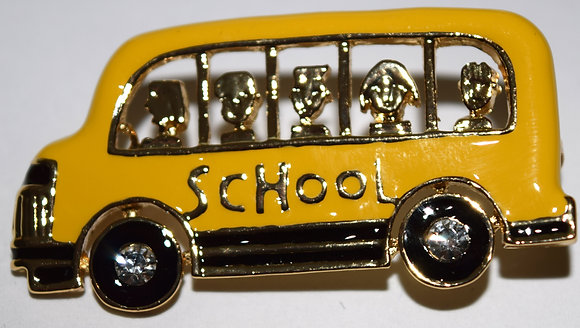 School Bus Brooch Pin