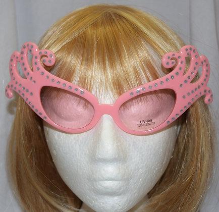 Pink Dame Edna Costume Glasses