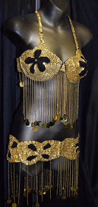 Vintage Two Piece Belly Dancing Set