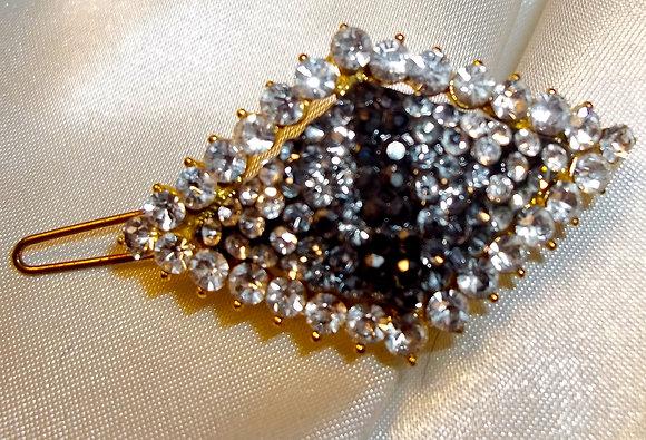 Diamond Shape Hair Clip Black