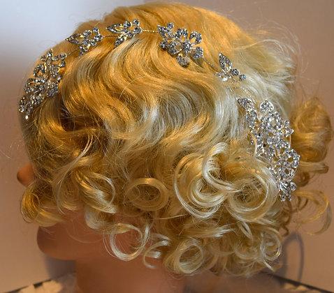 Flexible Floral Rhinestone Hair Comb Bands