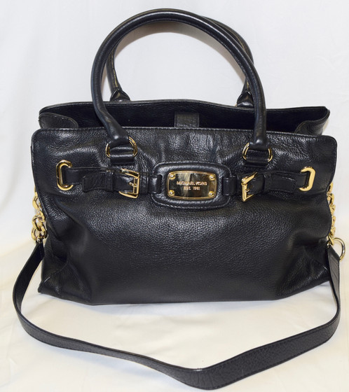 09c2dc43c12c This quality vintage authentic Michael Kors is slightly used in good  condition. Labelled Michael Kors classic black leather ...