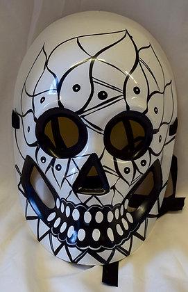 Full Face Skeleton Masquerade Mask Black & White