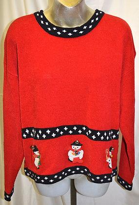 Vintage Snowman Christmas Sweater XXL