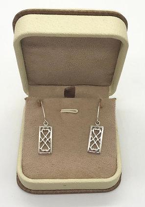 Vintage Multi Hearts Silver Earrings