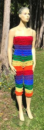 Rainbow Crinoline Material Pettipant Onesie - Small